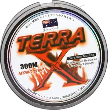 James Cook Terra mono 0,45mm 22kg grey 300m, monofile Angelschnur, mono line