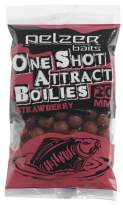 PELZER One Shot Attract Boilies Strawberry 250g