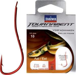 Daiwa Tournament Aalhaken bronze Gr.10 60cm 0.25mm SB10