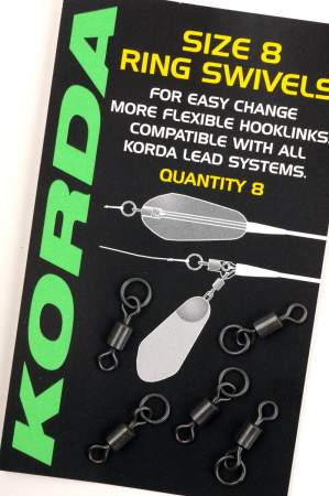KORDA Size 8 Flexi Ring Swivels