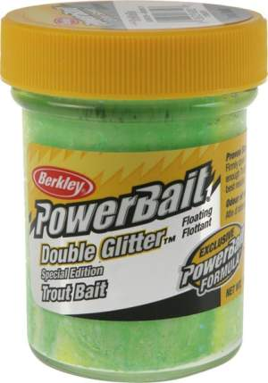 BERKLEY Double Spring-green/Weiss/Lemon-Gelb 50g
