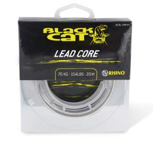 BLACK CAT Coated Lead Core 70kg braun/camou 20m