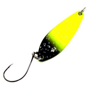 EFT Trout Wave Spoon 3,5g perl-yellow black glitter