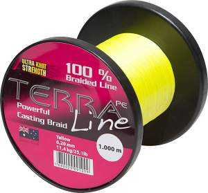 James Cook Terra PE Line 0,10mm 1000m yellow 4,5kg