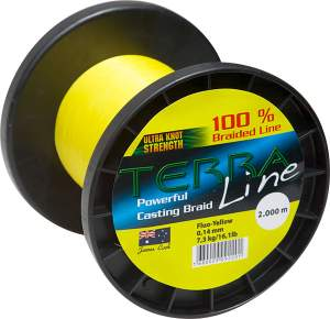 James Cook Terra Line 0,58mm 2000m fluo-yellow 72,7kg