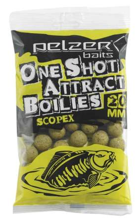 PELZER One Shot Attract Boilies Scopex 250g