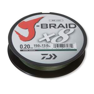 Daiwa J-Braid X8 dark green 0.20mm 16.0kg 1500m