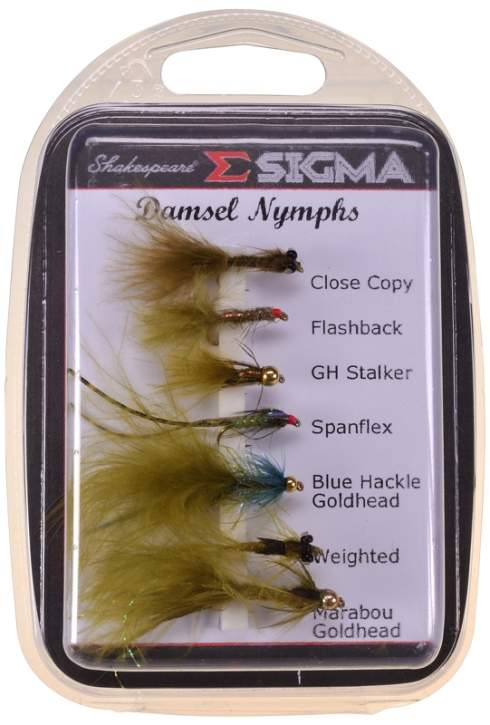 Shakespeare Sigma Fly Selection 4 Damsel Nymphs