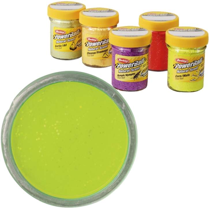 BERKLEY Powerbait Dough Natural Scent Cheese Chartreuse