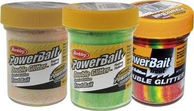 BERKLEY Powerbait Trout Bait Double Glitter Twist 50g