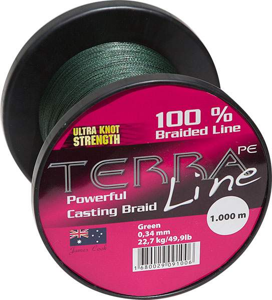 James Cook Terra PE Line 0,10mm 1000m green 4,5kg