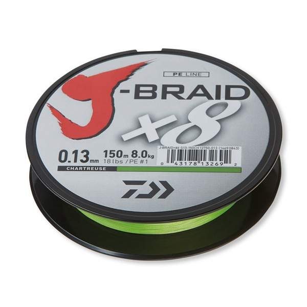 Daiwa J-Braid X8 chartreuse 0.24mm 22.0kg 1500m